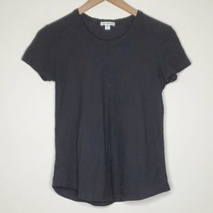 Standard James Perse Black Short Sleeve T Shirt, 2